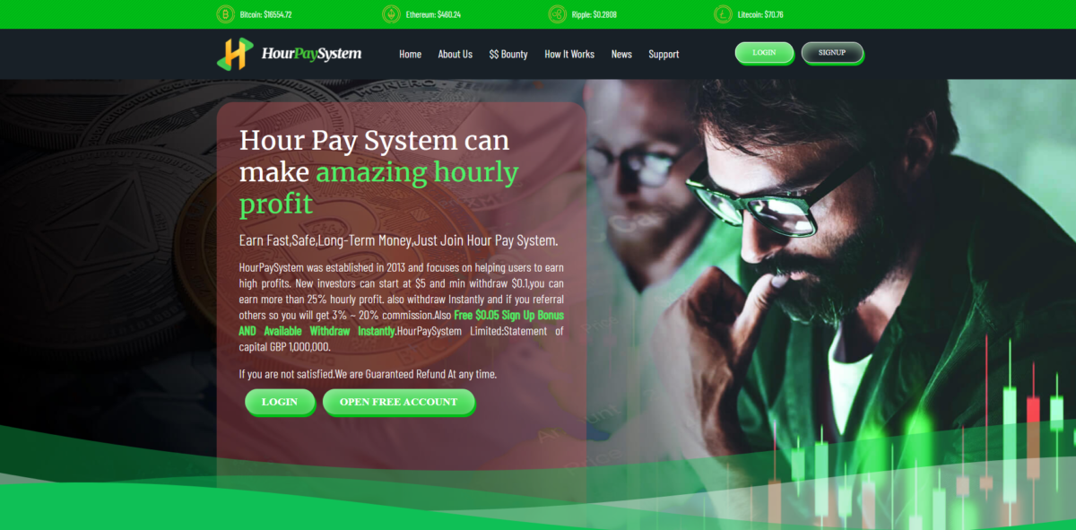 hourpaysystem scam home page