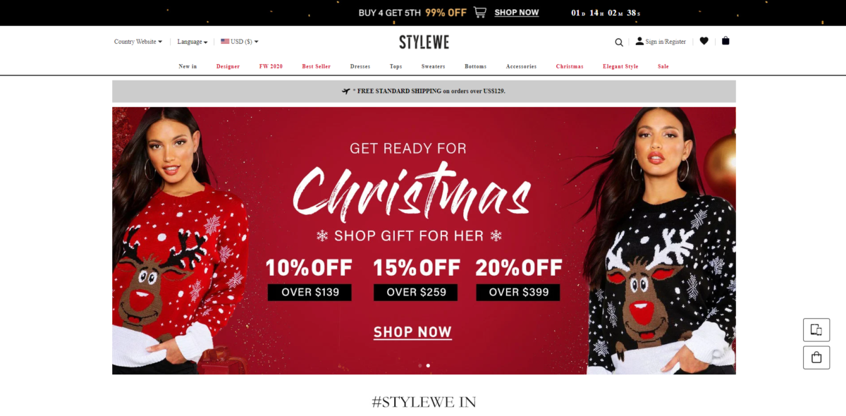 stylewe scam home page