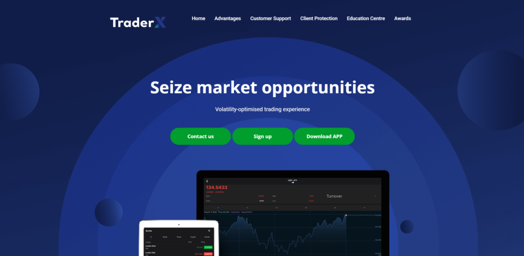 traderx scam home page