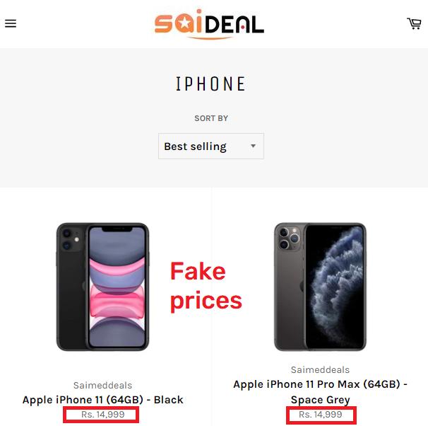 saideals scam iphone fake price
