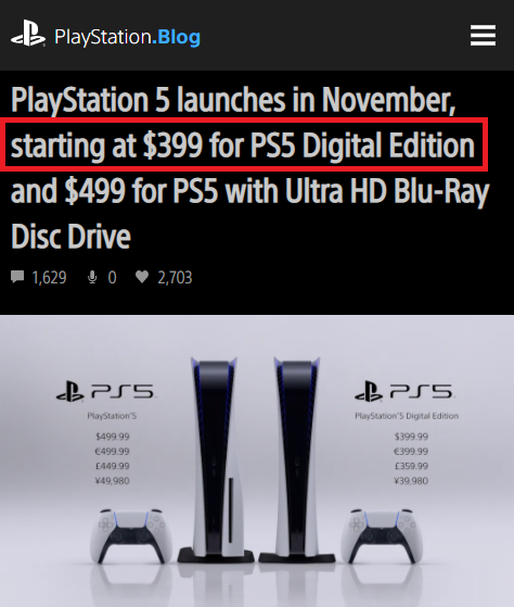 real ps5 price
