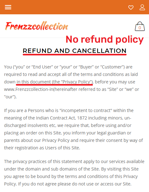 frenzzcollection soggycollection scam fake refund policy