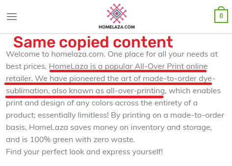 homelaza scam about us page