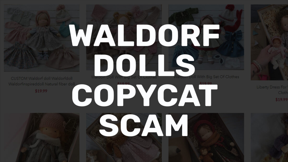 waldorf dolls copycat scam cover image