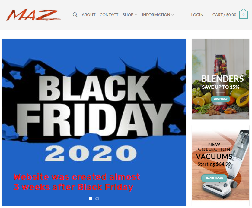 themazshop scam black friday banner