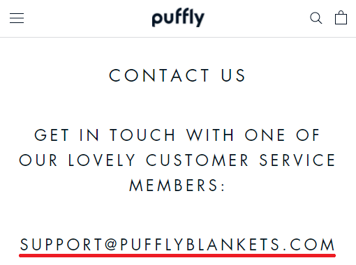 puffly blankets email address