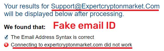 ExpertCryptonMarket scam fake email ID