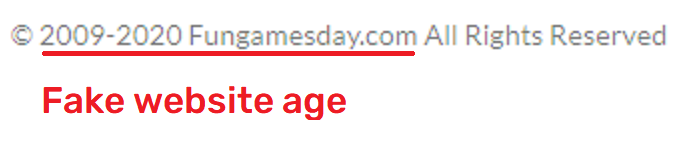 FunGamesDay scam fake website age