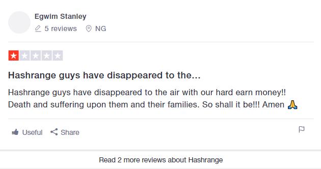 hashrange scam bust trustpilot review