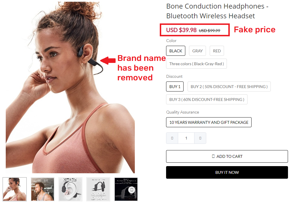 tutonce scam fake bone conduction earphones