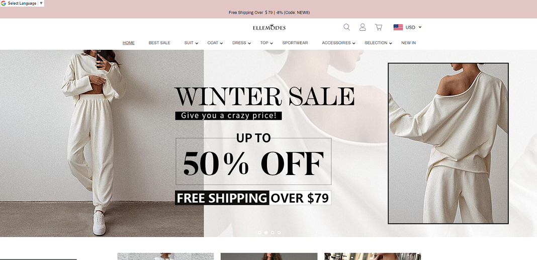 clothfamous scam home page