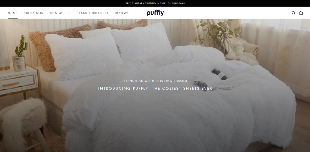 puffly blankets scam home page