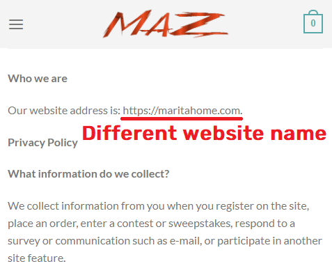 themazshop scam privacy policy