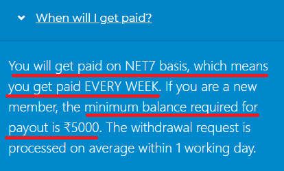 rupee4click scam minimum balance net7
