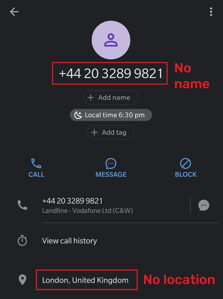 tutonce scam fake phone number