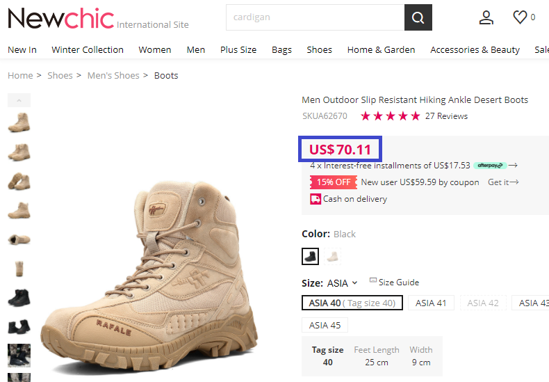 desert boots original price