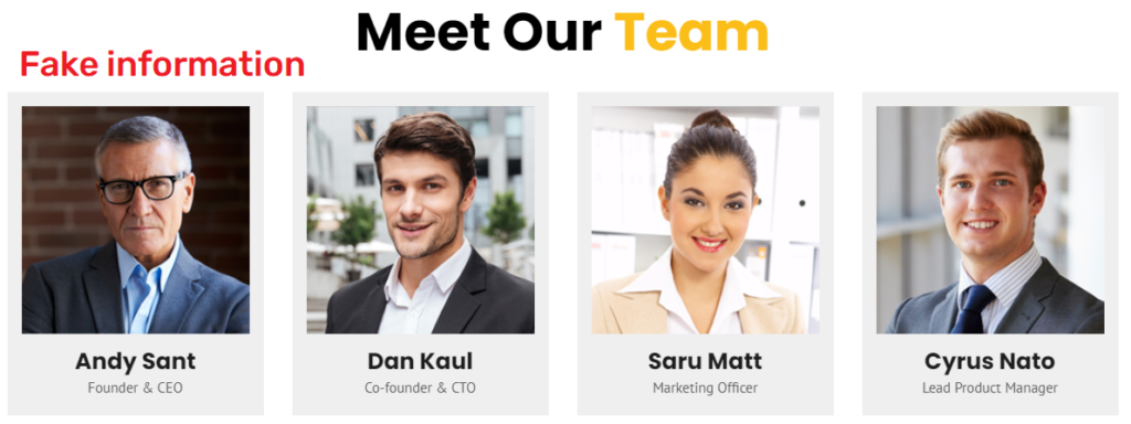 standardbitpool fake team members