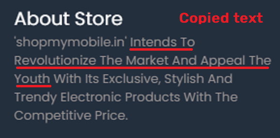 shopmymobile scam about us text
