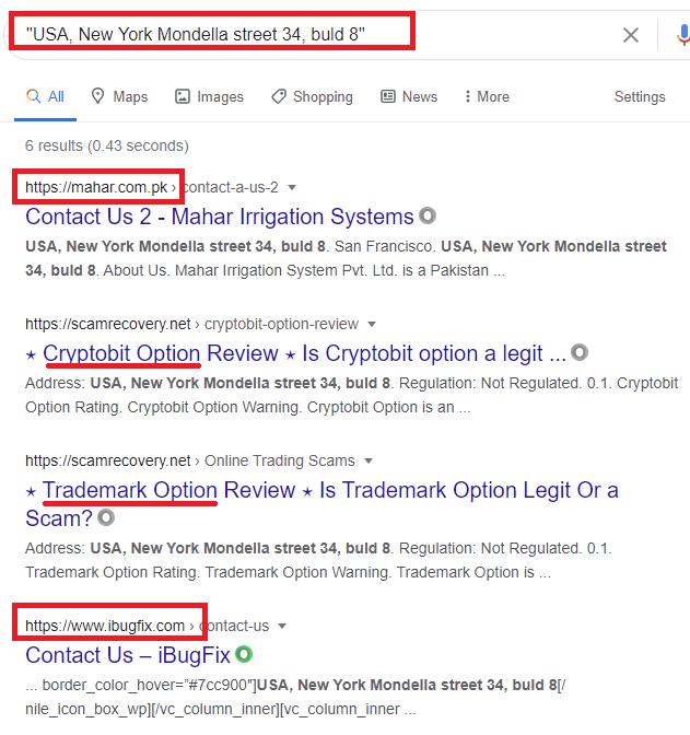 kryptosminer scam fake address