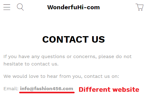 maddemall scam fashion 456 fake email 1