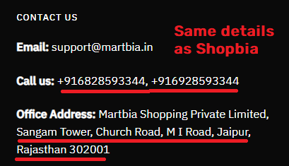 martbia scam fake contact details