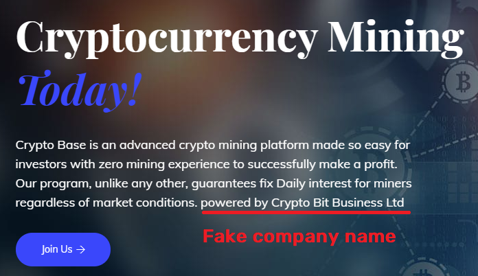 cryptobase scam fake company name
