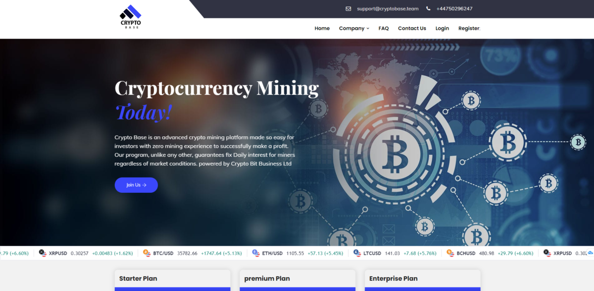 cryptobase scam home page