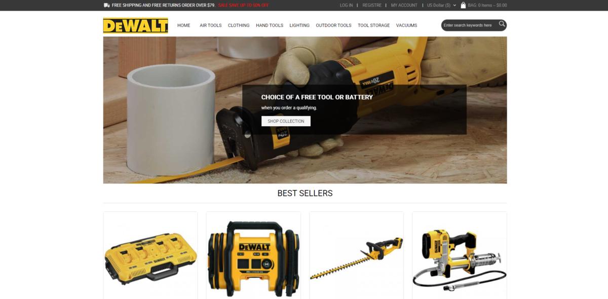 dewaltset scam home page
