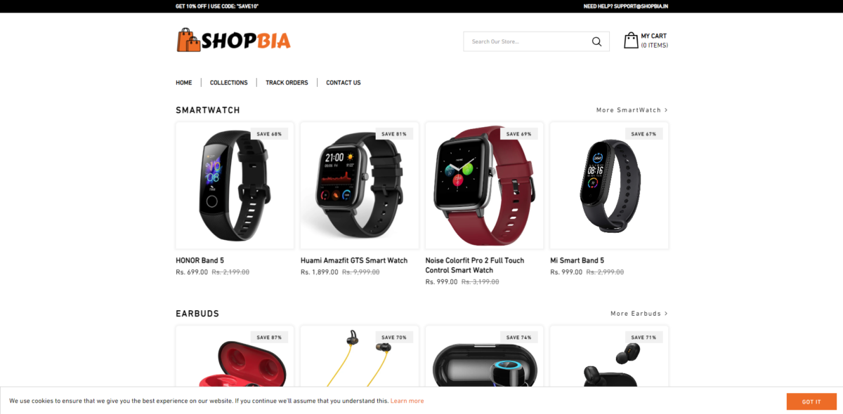 shopbia scam home page