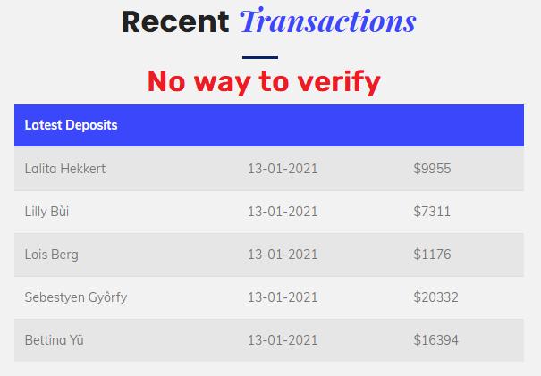 fake transactions