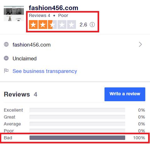 fashion456 scam reviews 1