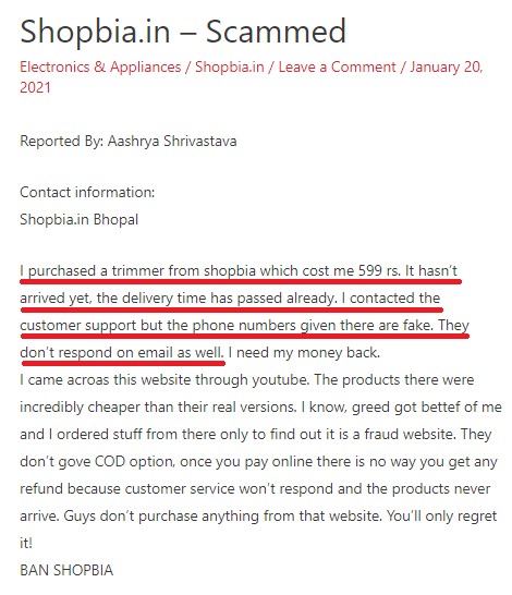 shopbia scam review 3