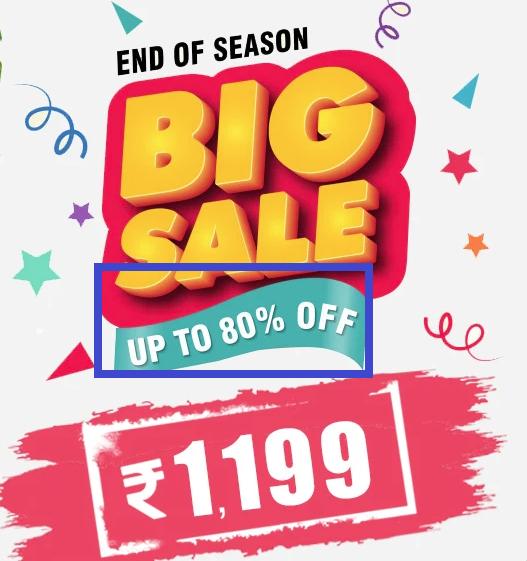 BestShirtDeal scam end of season sale banner