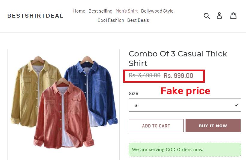 BestShirtDeal scam shirt fake price