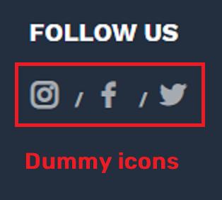 maddemall scam fake social media icons