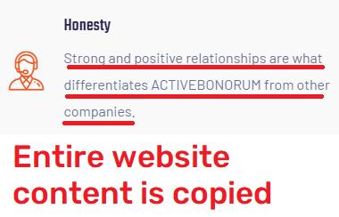 activebonorum scam copied content