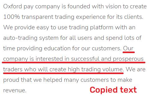 oxfordpay scam copied content
