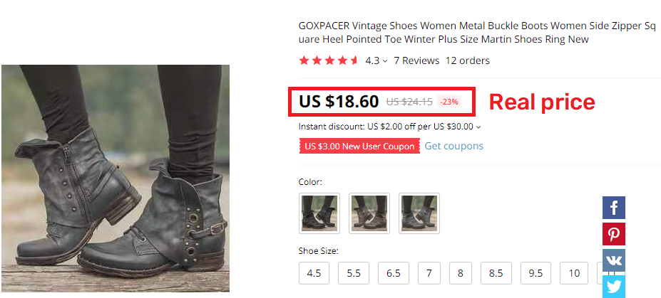 aliexpress martin boots real price