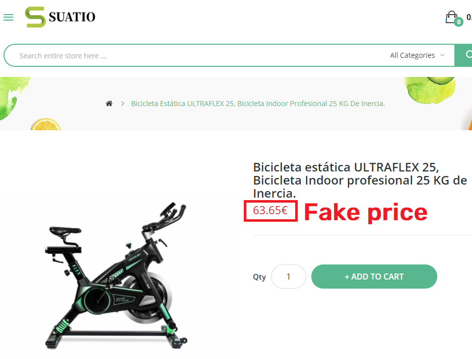 suatio scam fake exercise cycle price