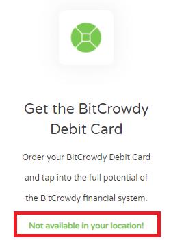 bitcrowdy scam fake debit card