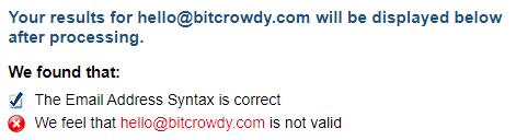 bitcrowdy fake email address