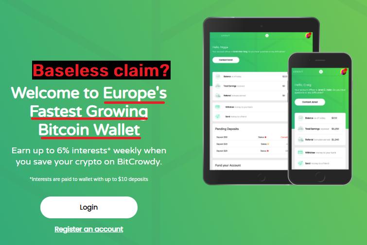 bitcrowdy scam fake claim europe