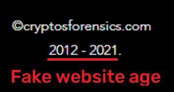 CryptosForensics scam fake website age