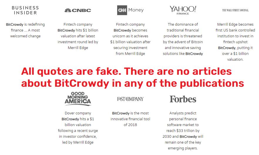 bitcrowdy scam fake quotes