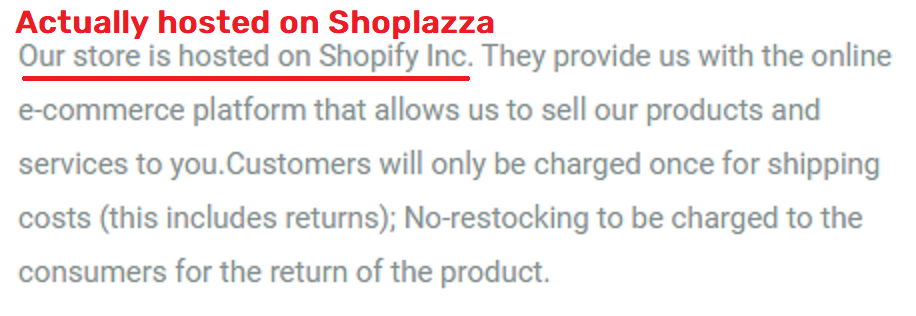 Bvcllecc scam fake shopify text