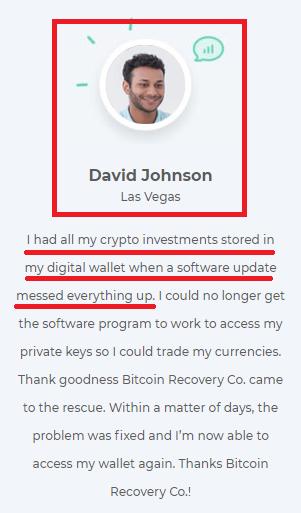 recovery scam fake testimonial