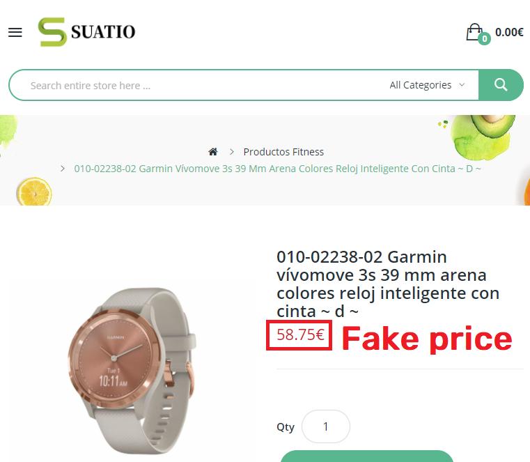 suatio scam fake garmin watch price