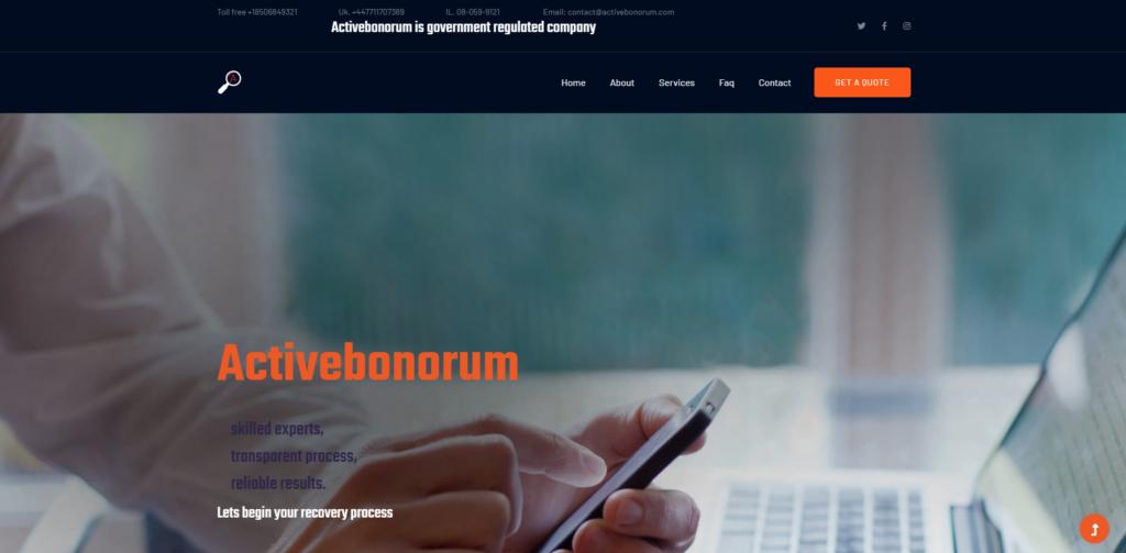 activebonorum scam home page
