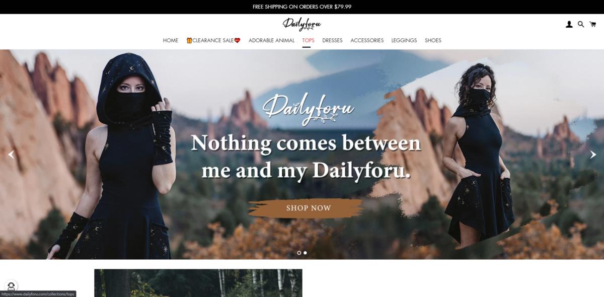 dailyforu scam home page