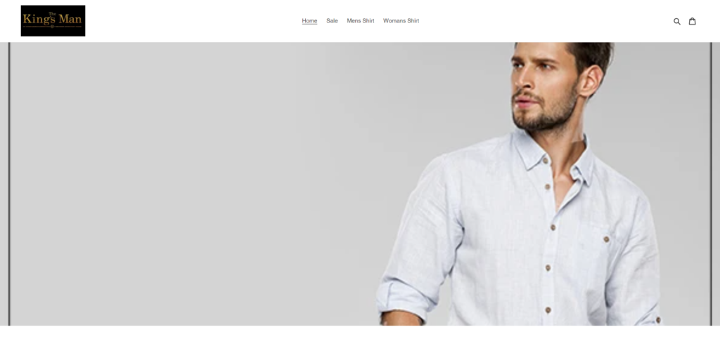 kingsmanshop scam home page